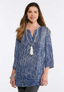 Plus Size Geo Print Tunic