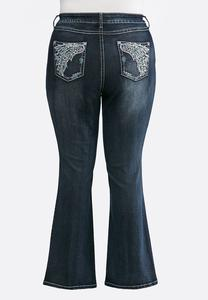 Plus Petite Wing Pocket Bootcut Jeans