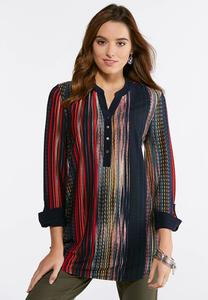 Multi Stripe Pullover Tunic