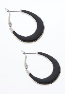 Colored Enamel Hoop Earrings