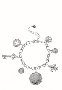Assorted Charm Chain Link Bracelet