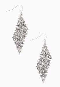 Metal Mesh Dangle Earrings