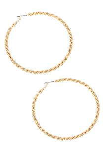 Large Texture Twisted Hoops