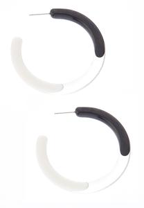 Ombre Lucite Hoop Earrings