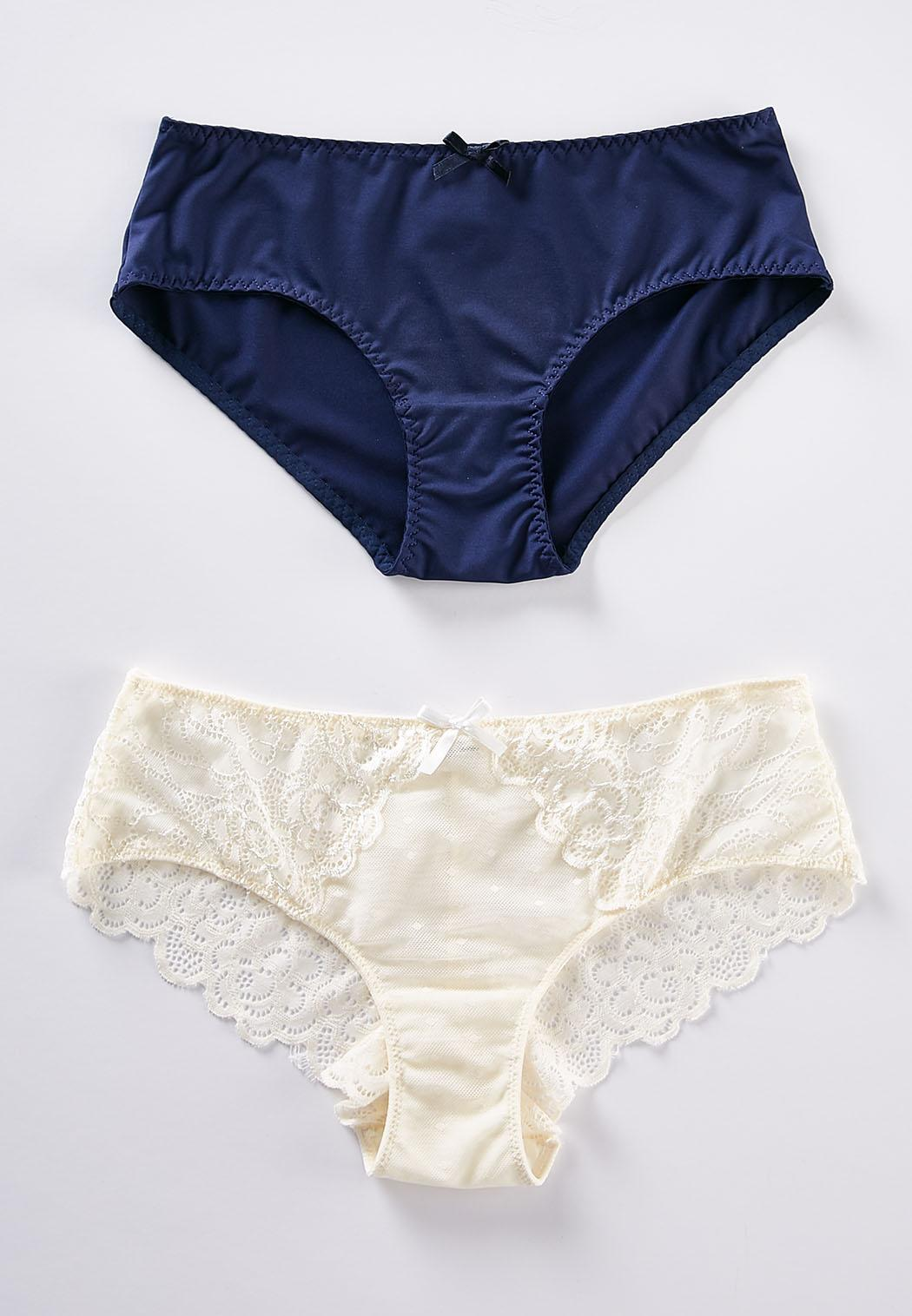 391441d9cf9 Navy And Ivory Lace Panty Set Intimates Cato Fashions
