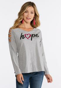 Hope Lattice Sleeve Top
