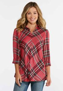 Dotted Plaid Tunic