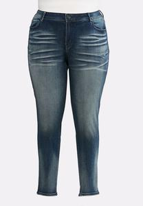 Plus Size Faded Whiskered Jeggings