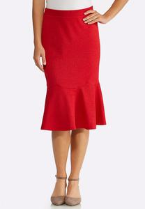 Red Flounced Skirt
