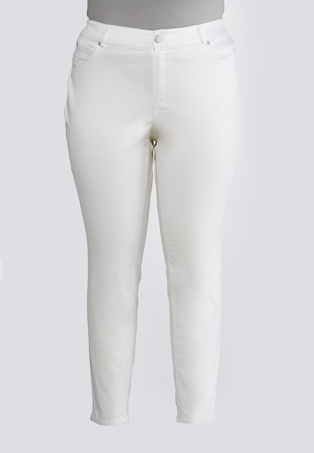 Plus Size Uplifting White Jeggings