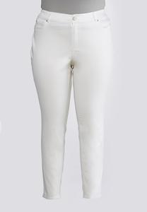 Plus Size Uplifting White Jeggings
