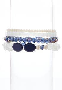 Assorted Bead Stretch Bracelet Set