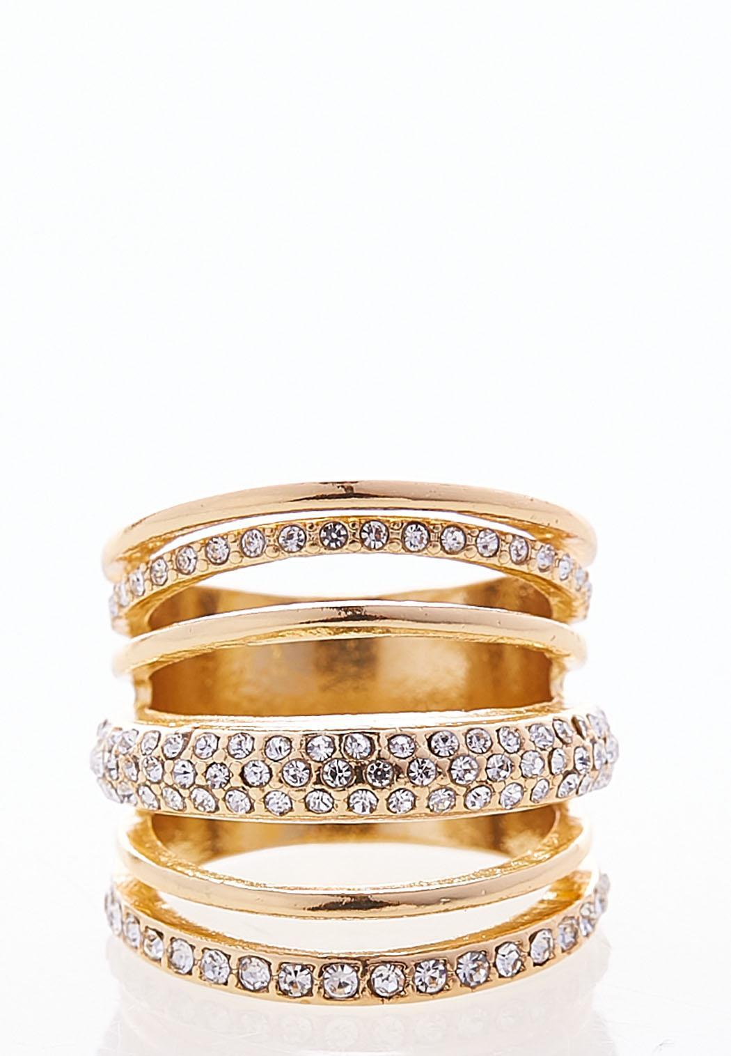 Layered Stone Ring