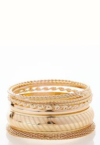 XL Gold Bangle Bracelet Set