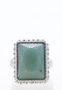Square Stone Statement Stretch Ring