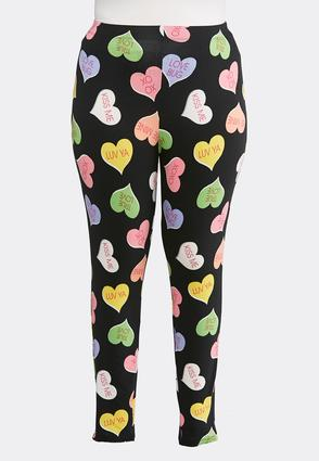 Plus Size Candy Heart Leggings