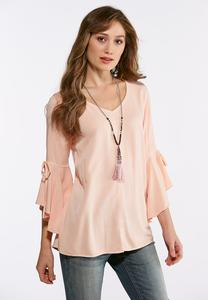 Plus Size Extreme Bell Sleeve Top