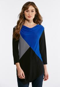 Colorblock Pointed Hem Top