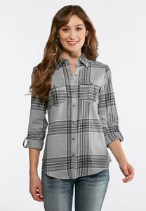 Lurex Plaid Shirt