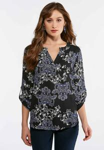 Plus Size Garden Paisley Top