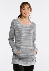 Plus Size Silver French Terry Sweatshirt