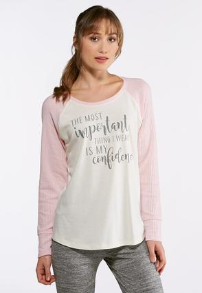 Pink Waffle Confidence Top