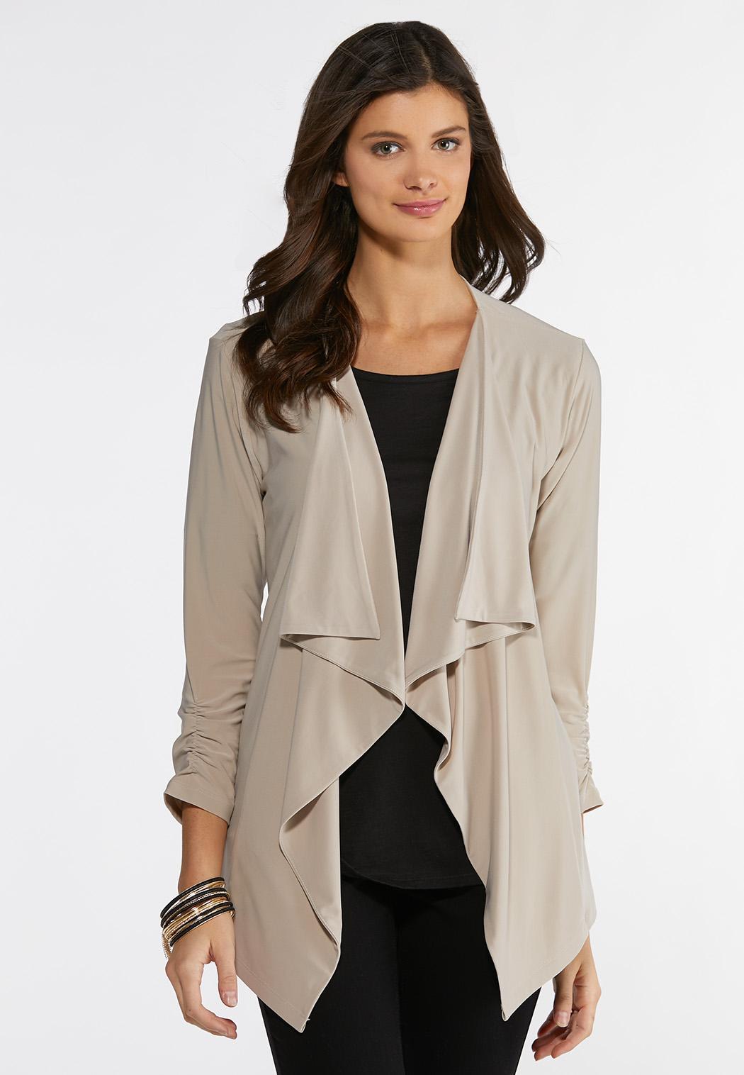 Solid Drape Knit Jacket