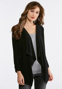 Solid Drape Knit Jacket