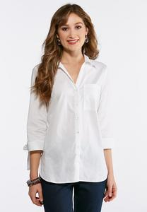 Plus Size Tie Sleeve Boyfriend Tunic