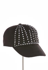 Faux Suede Bling Ball Cap