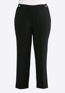 Plus Size Pearl Trim Pants