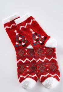 Cozy Christmas Tree Socks