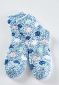 Polka Dot Fleece Socks