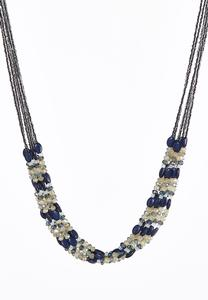 Multi Row Beaded Layered Necklace