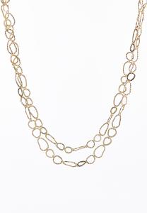 Metal Link Layering Necklace