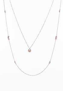 Rose Gold Delicate Layering Necklace