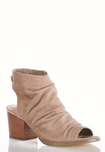 Faux Suede Ruched Shooties