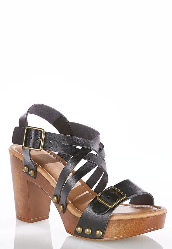 30f7633556b Buckle Strap Platform Sandals Heels Cato Fashions