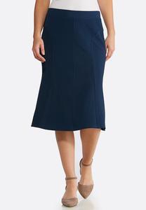 Textured Mermaid Midi Skirt