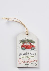 Gift Tag Christmas Ornament