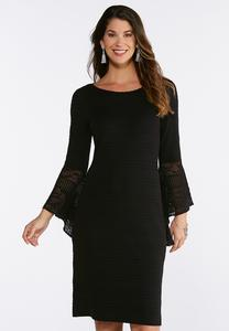 Plus Size Pointelle Sweater Dress