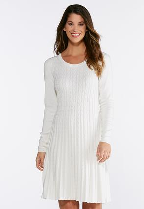 Plus Size Fit And Flare Sweater Dress