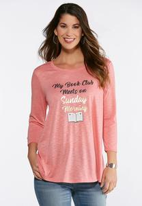 Plus Size Sunday Morning Book Club Top