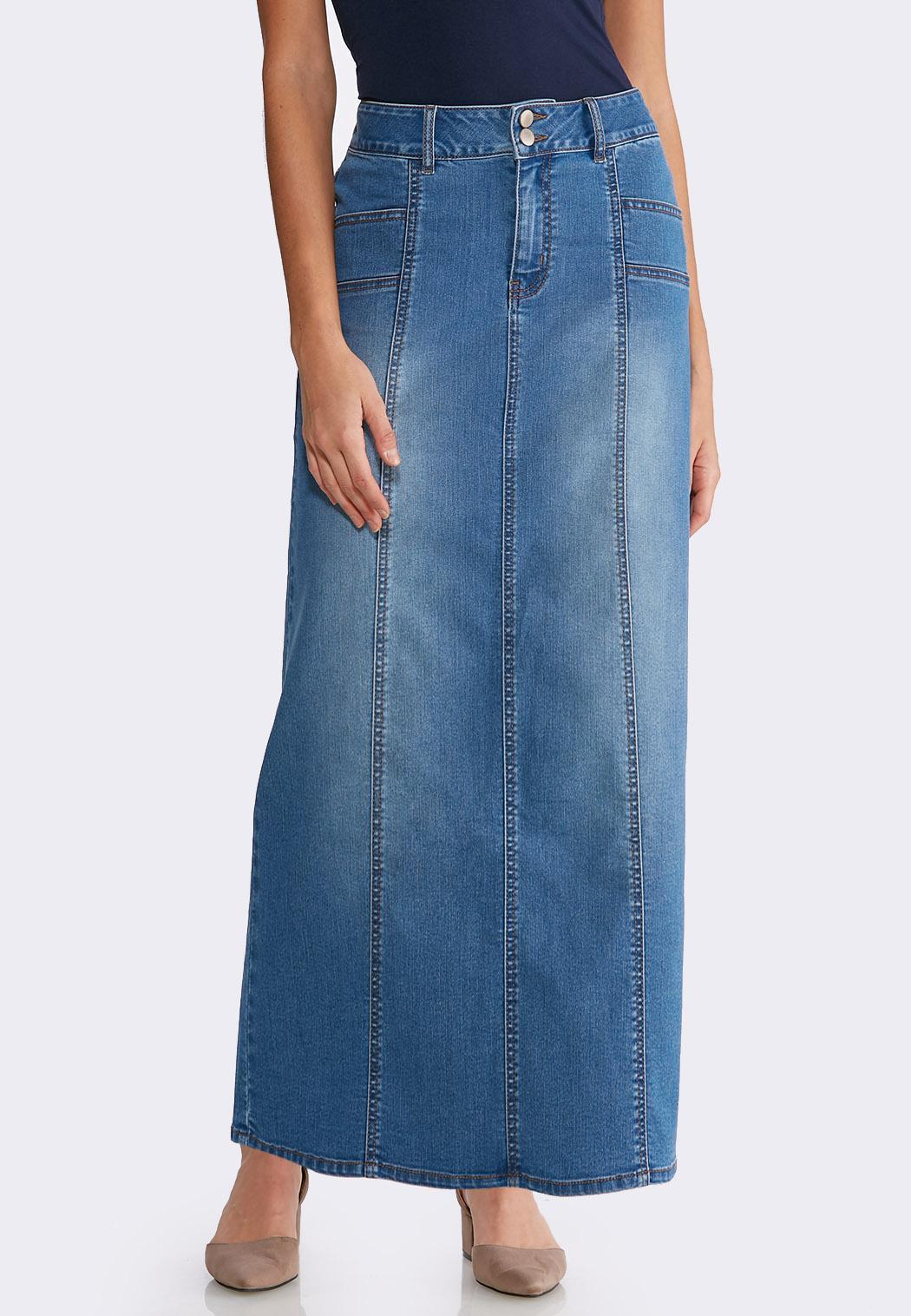 22a36010d80 Women s Plus Size Denim Skirts
