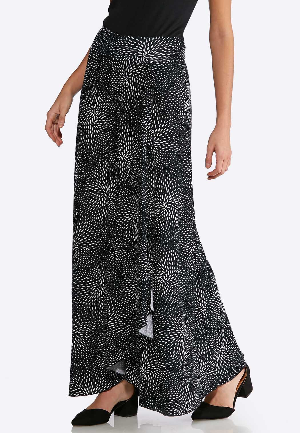 Dotted Faux Wrap Maxi Skirt