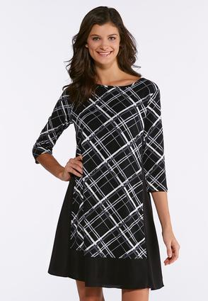 Plaid Panel Dress