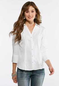 Pleated Hem Shirt