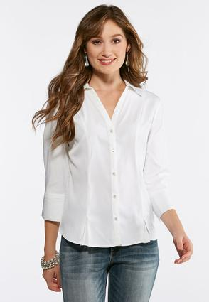 Plus Size Pleated Hem Shirt