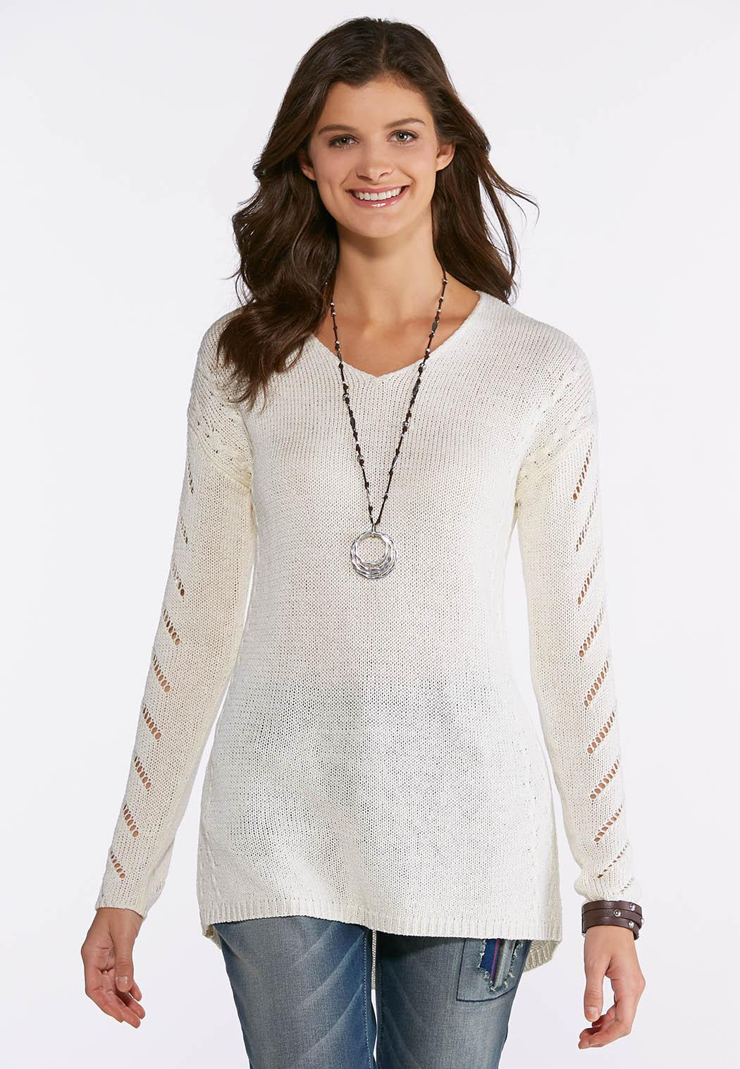28546e7c6d5 Plus Size Mix Stitch Sweater Pullovers Cato Fashions