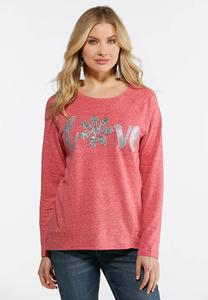 Plus Size Snowflake Love Sweatshirt